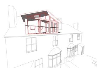 Loft white model red outline 02