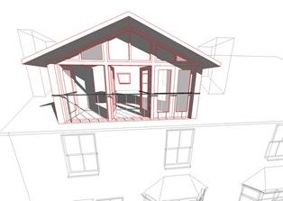Loft white model red outline 03